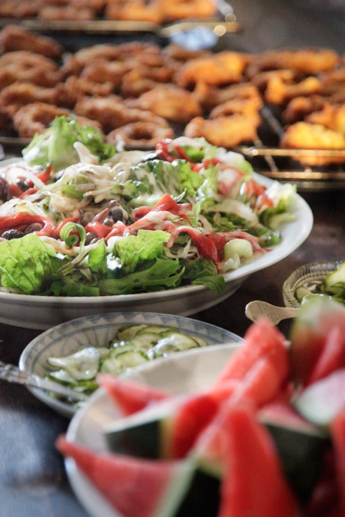 southern-fried-kylling-løgringe-middag