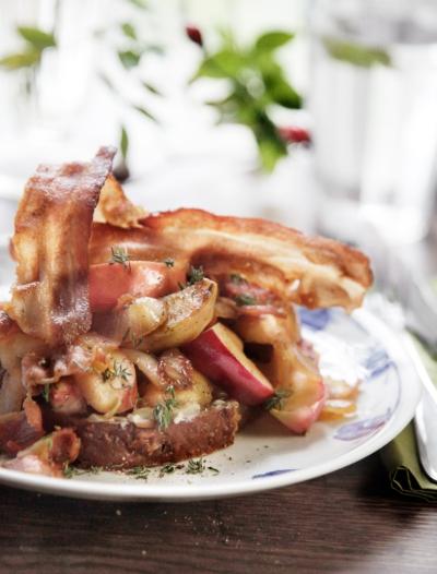 Æbleflæsk-med-økologisk-bacon-fra-Hanegal
