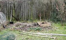 Haverne bygges direkte ovenpå græsplænen.